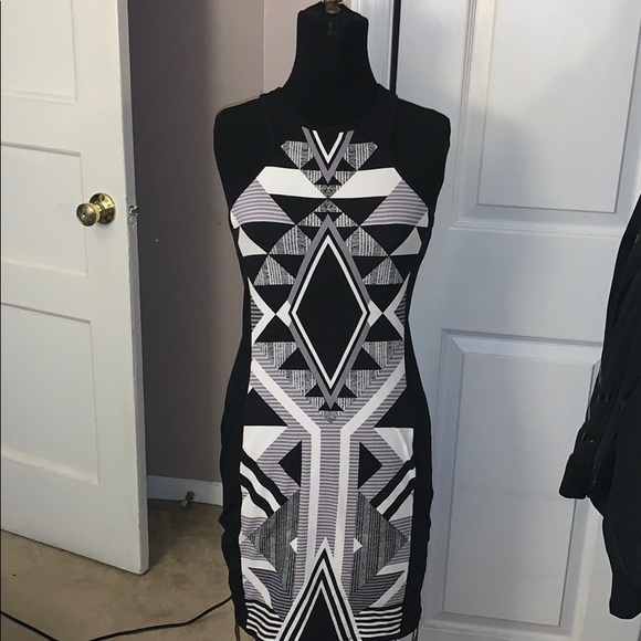 Express Dresses & Skirts - Express Racerback bodycon dress black white small
